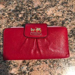 NWOT Coach Red Leather Wallet ❤️